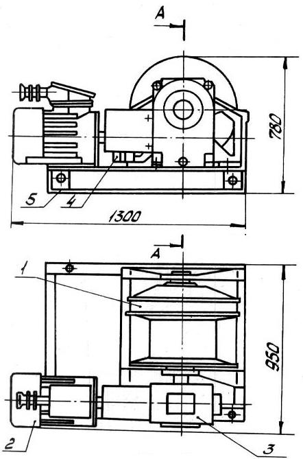 Лебедка шахтная ЛВВ-50
