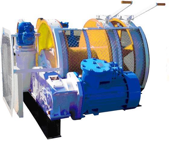 Лебедка шахтная ЛВ-45